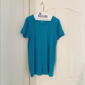 J.Crew Vintage Cotton Turquoise T Shirt